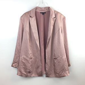New  Plus Size INC Satin Open Front Blazer Jacket